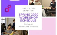 Spring 2020 Workshop Schedule